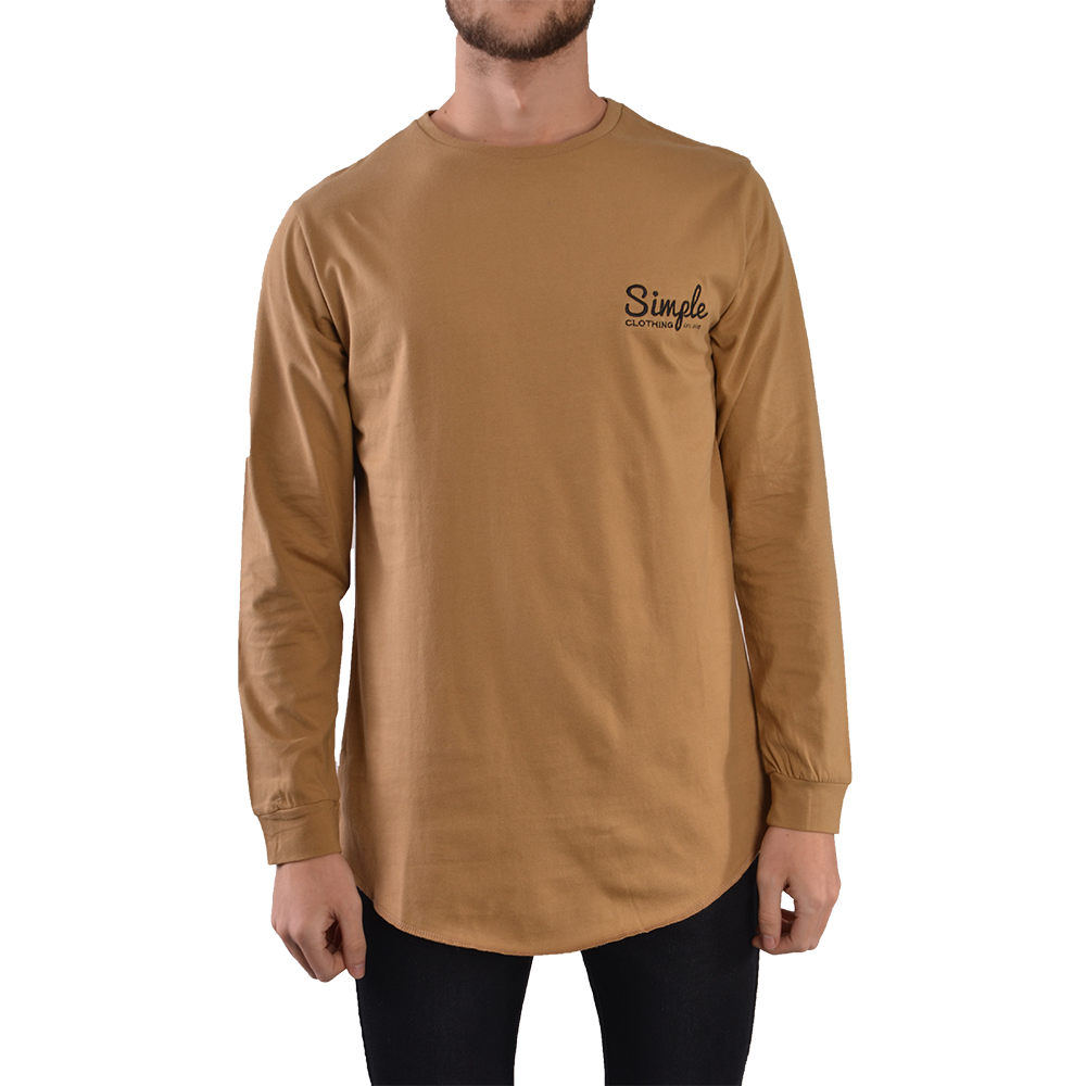 Tan Long Sleeve T-Shirt - Simple Clothing