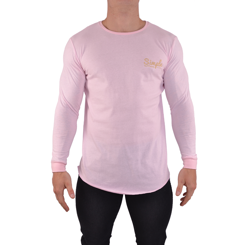 Pink Long Sleeve T-Shirt - Simple Clothing